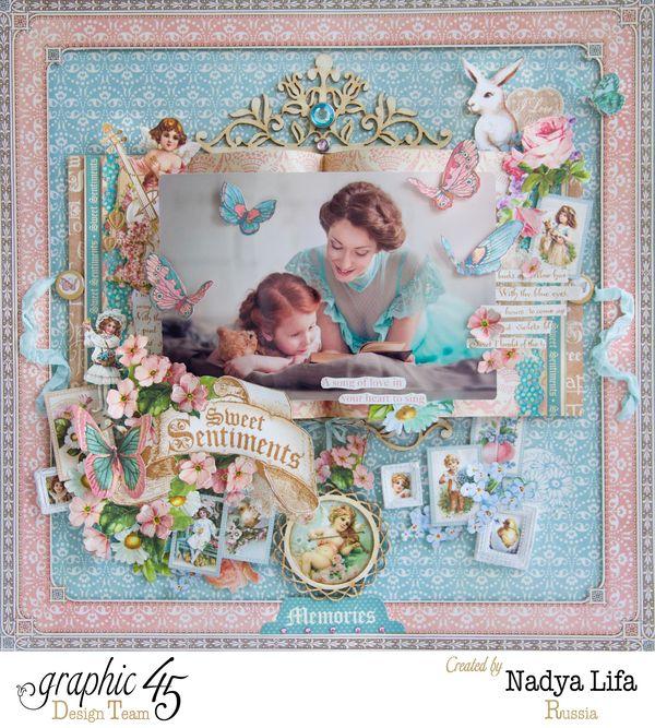 Sweet Sentiments  Graphic 45  Layout  Nadya Lifa  Memories  Top Layouts 9