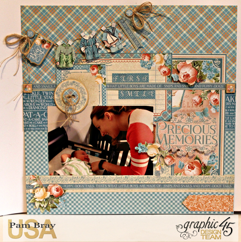 Graphic 45 Precious Moments Layout with Tutorial by Pam Bray - Photo 1_5177