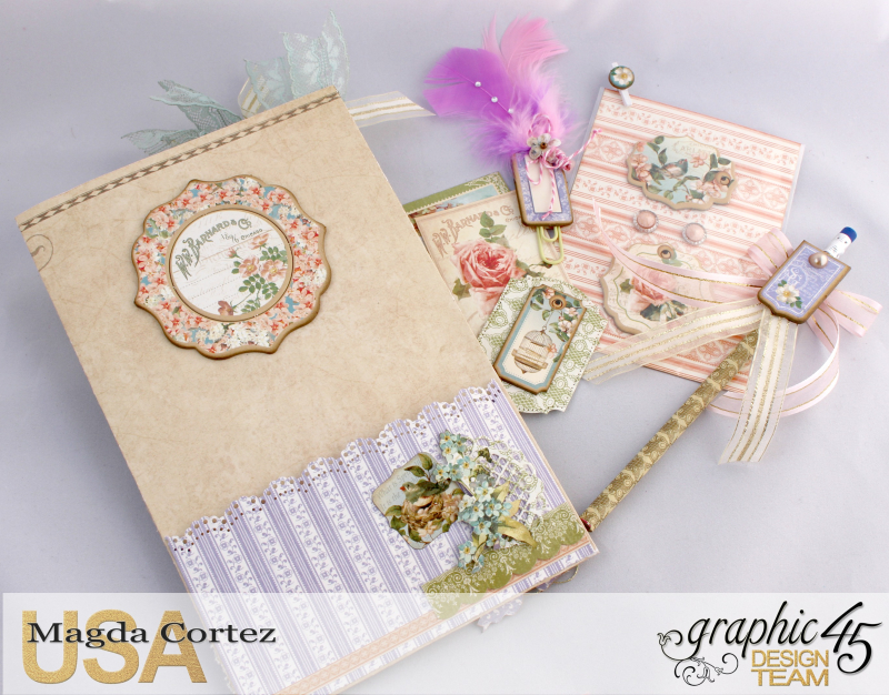 Loaded Pocket of Secrets- Secret Garden-By Magda Cortez- Product of Graphic 45- Photo 05 of 12