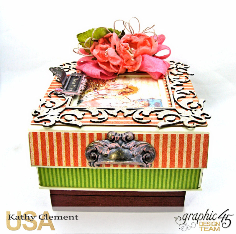Tea Time Notecards in a Shaker Box A Place in Time by Kathy Clement Product by Graphic 45 Photo 2