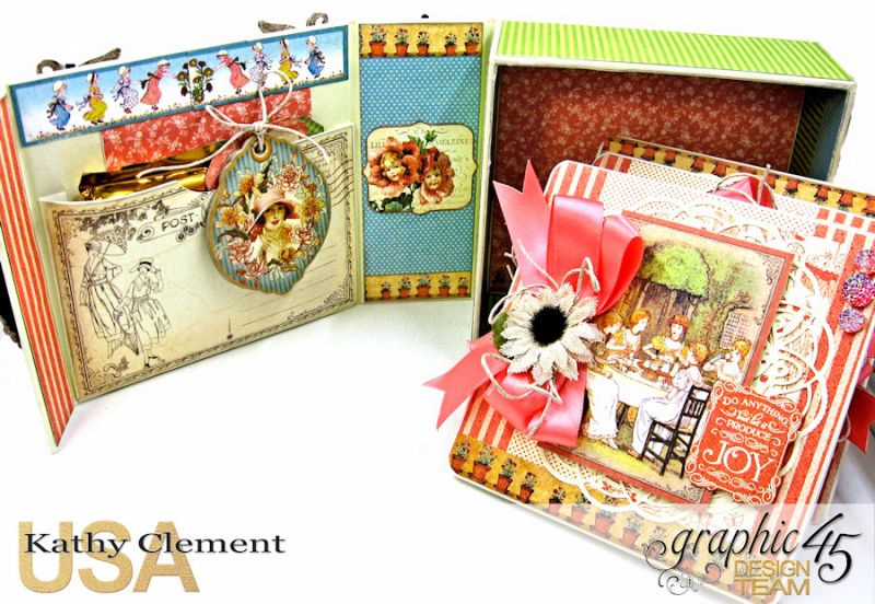Tea Time Notecards in a Shaker Box A Place in Time by Kathy Clement Product by Graphic 45 Photo 5