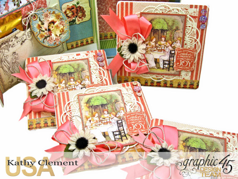 Tea Time Notecards in a Shaker Box A Place in Time by Kathy Clement Product by Graphic 45 Photo 8