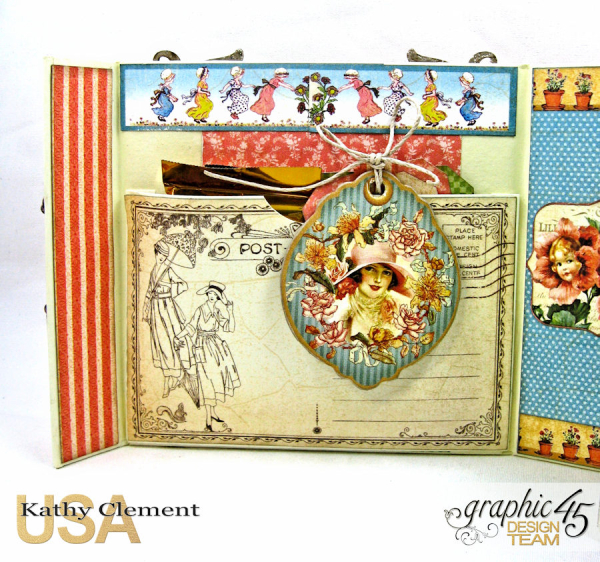 Tea Time Notecards in a Shaker Box A Place in Time by Kathy Clement Product by Graphic 45 Photo 11