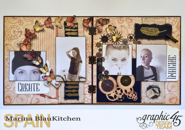 Double LO Olde Curiosity Shoppe Tutorial by Marina Blaukitchen Product by Graphic 45 photo 1
