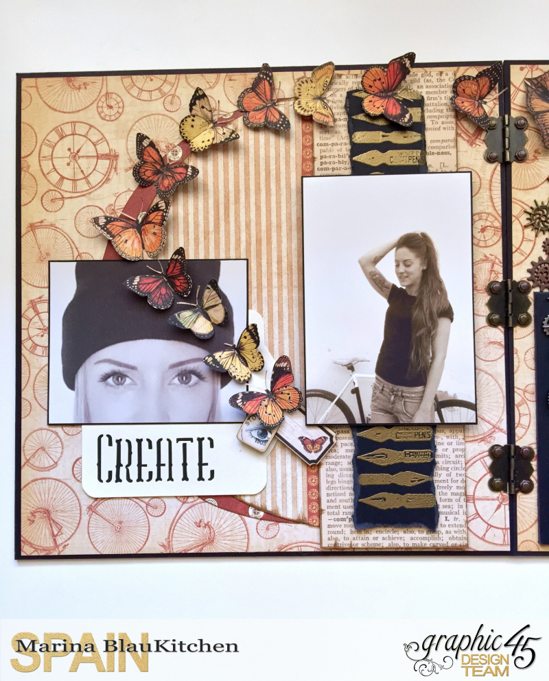 Double LO Olde Curiosity Shoppe Tutorial by Marina Blaukitchen Product by Graphic 45 photo 4