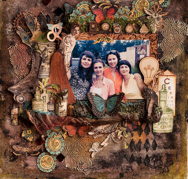 Layout -Olde Curiosity Shoppe- tutorial by Lena Astafeva-product by Graphic 45-12
