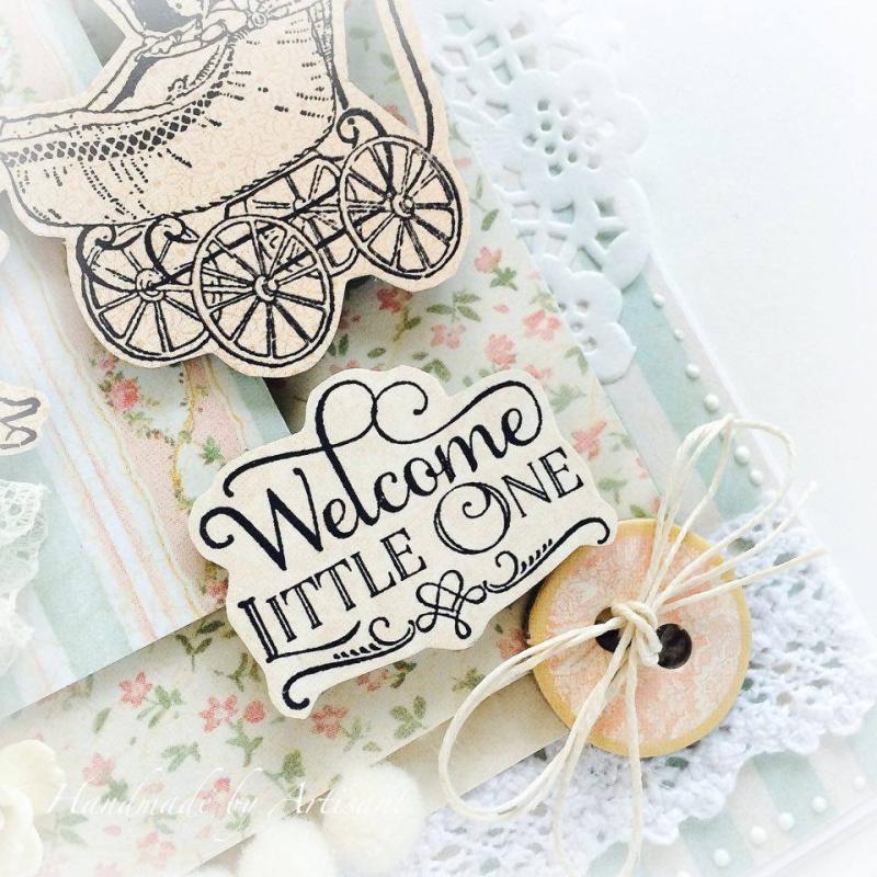 Baby 2 Bride baby shower card for Graphic 45  by Aneta Matuszewska  photo 4