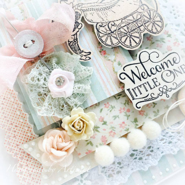 Baby 2 Bride baby shower card for Graphic 45  by Aneta Matuszewska  photo 4