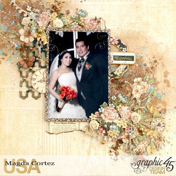 Picture Perfect-Double Layout  A Ladies' Diary  By Magda Cortez  Product By Graphic 45 Photo 02 of 08 with Tutorial