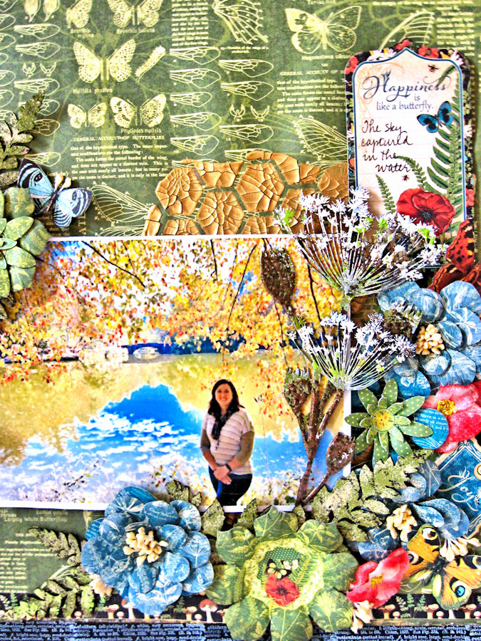 Natural Beauty Double Layout Nature Sketchbook by Kathy Clement Product by Graphic 45 Photo 11
