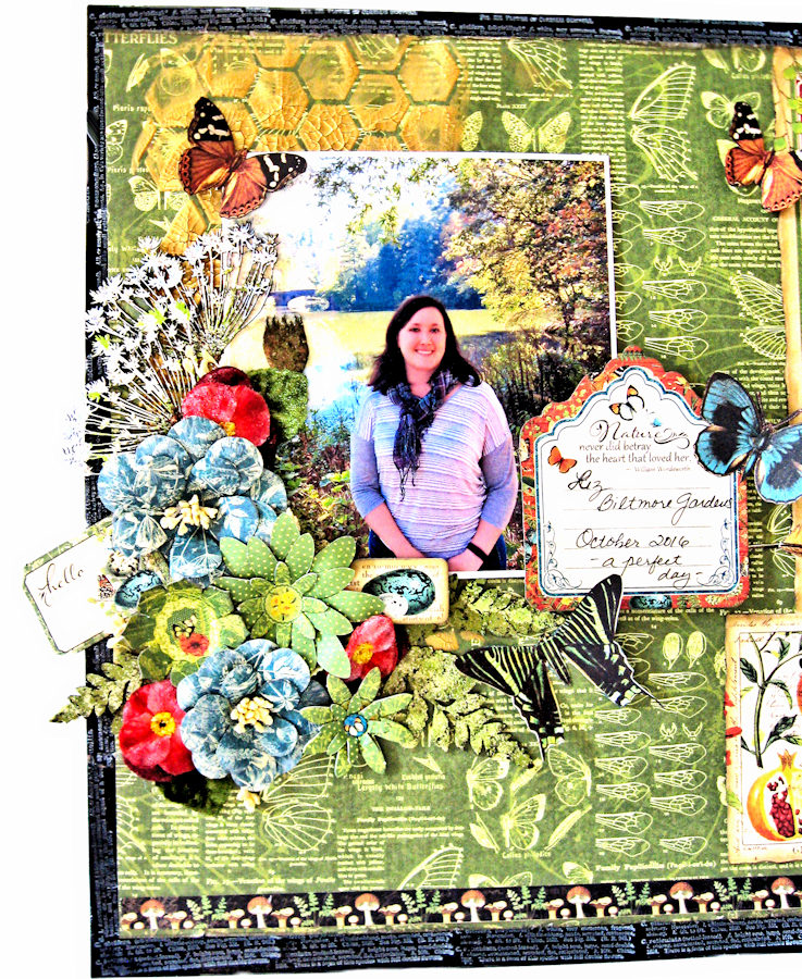 Natural Beauty Double Layout Nature Sketchbook by Kathy Clement Product by Graphic 45 Photo 14
