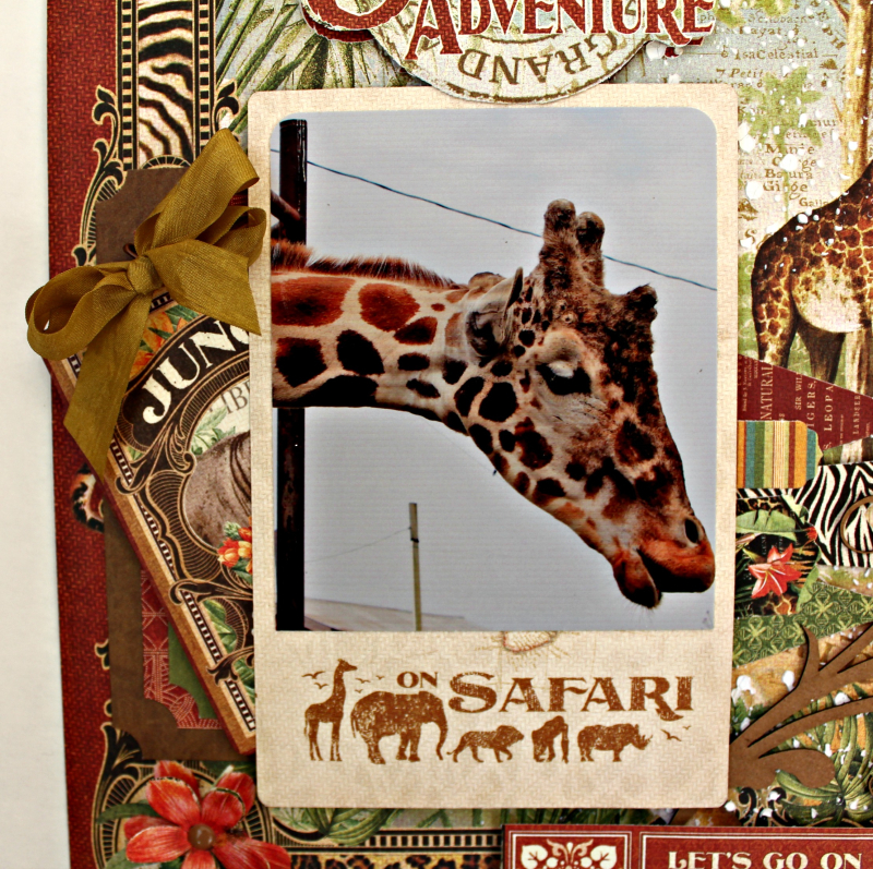 Graphic 45 Safari Adventure Double Layout with Tutorial by Pam Bray - Photo 8_5113