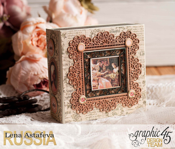 Box and album -Portrait of a Lady- tutorial by Lena Astafeva-product by Graphic 45-38