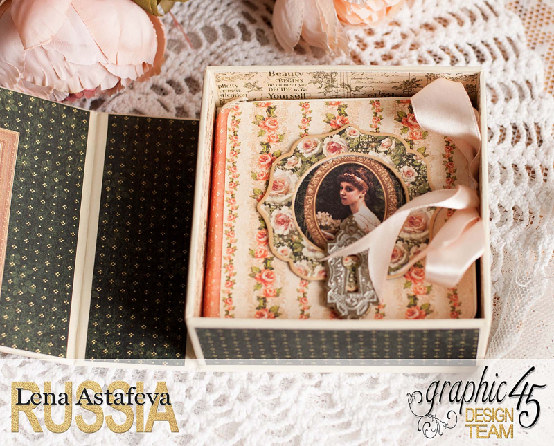 Box and album -Portrait of a Lady- tutorial by Lena Astafeva-product by Graphic 45-54