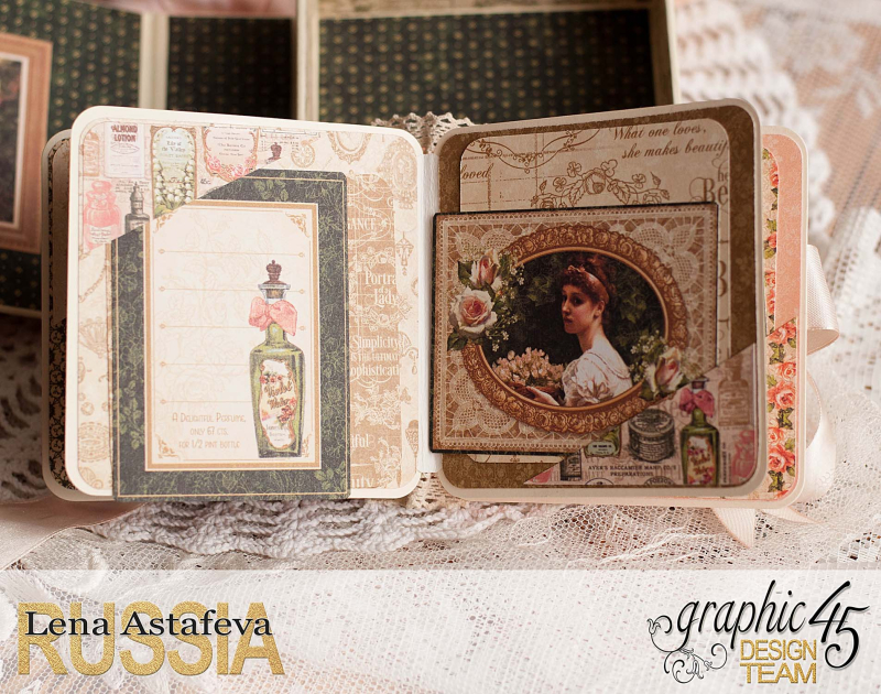 Box and album -Portrait of a Lady- tutorial by Lena Astafeva-product by Graphic 45-67