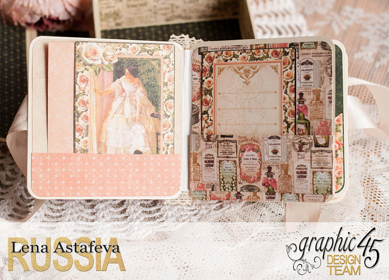 Box and album -Portrait of a Lady- tutorial by Lena Astafeva-product by Graphic 45-62