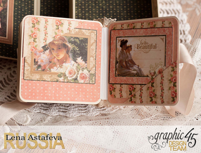 Box and album -Portrait of a Lady- tutorial by Lena Astafeva-product by Graphic 45-68