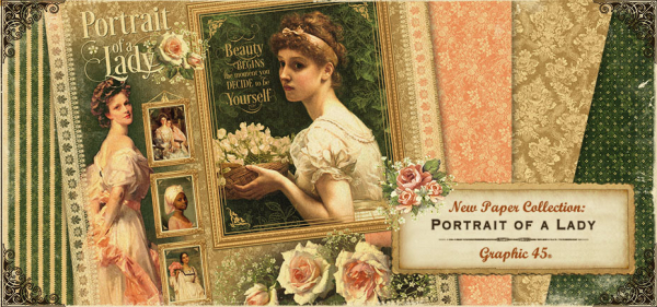 Portrait of a lady graphic 45 banner