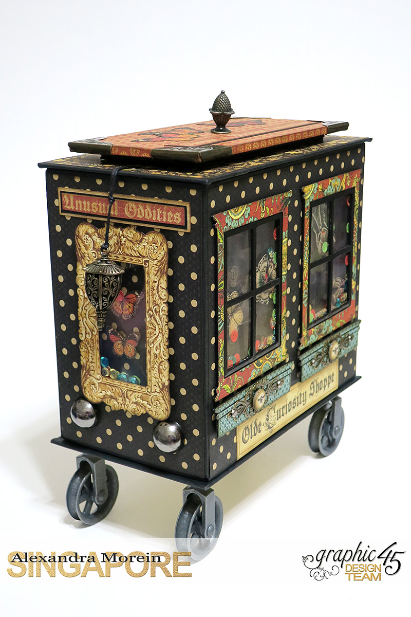 Olde Curiosity Shoppe Wagon  Olde Curiosity Shoppe  Tutorial by Alexandra Morein  Product by Graphic 45  Photo 4
