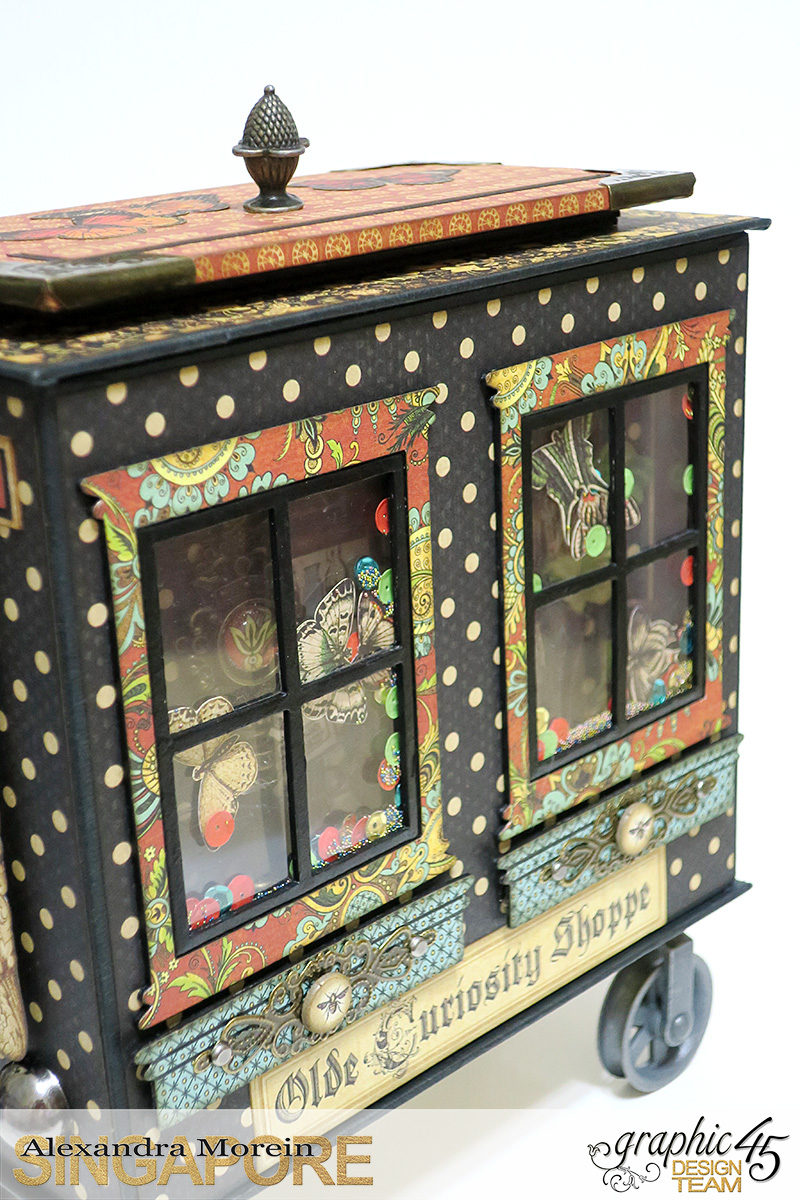 Olde Curiosity Shoppe Wagon  Olde Curiosity Shoppe  Tutorial by Alexandra Morein  Product by Graphic 45  Photo 6