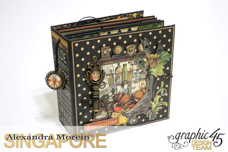 Olde Curiosity Shoppe Wagon  Olde Curiosity Shoppe  Tutorial by Alexandra Morein  Product by Graphic 45  Photo 15