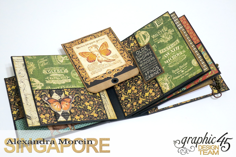Olde Curiosity Shoppe Wagon  Olde Curiosity Shoppe  Tutorial by Alexandra Morein  Product by Graphic 45  Photo 20