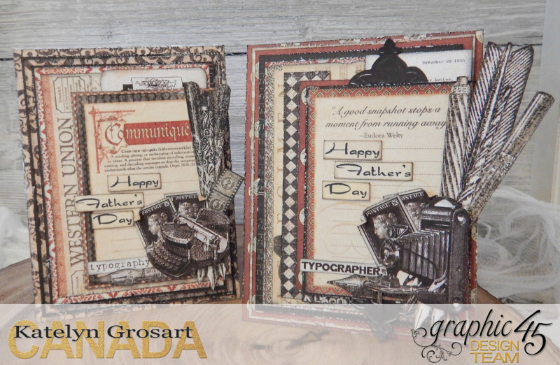 Father's Day Card Set  Communique DCE  Tutorial By Katelyn Grosart  Product By Graphic 45  Photo 1