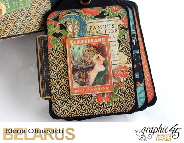 Tag Mini Album  Vintage Hollywood  by Elena Olinevich product by Graphic45  photo3