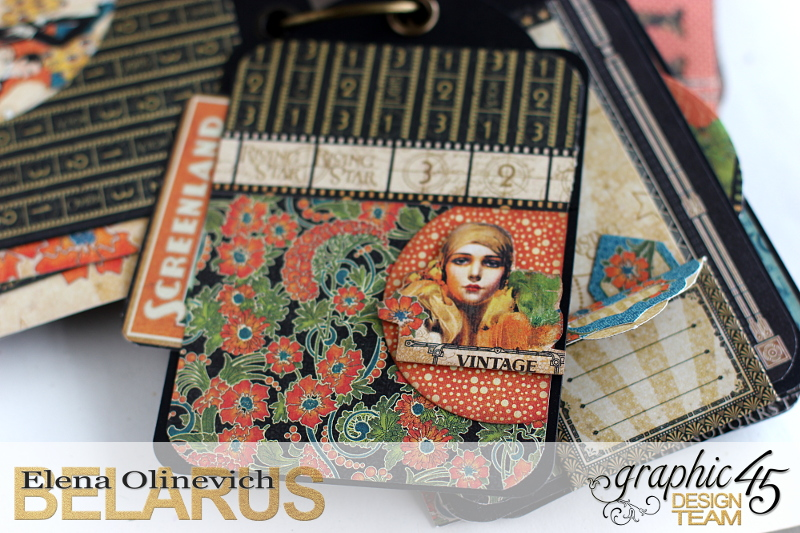 Tag Mini Album  Vintage Hollywood  by Elena Olinevich product by Graphic45  photo6