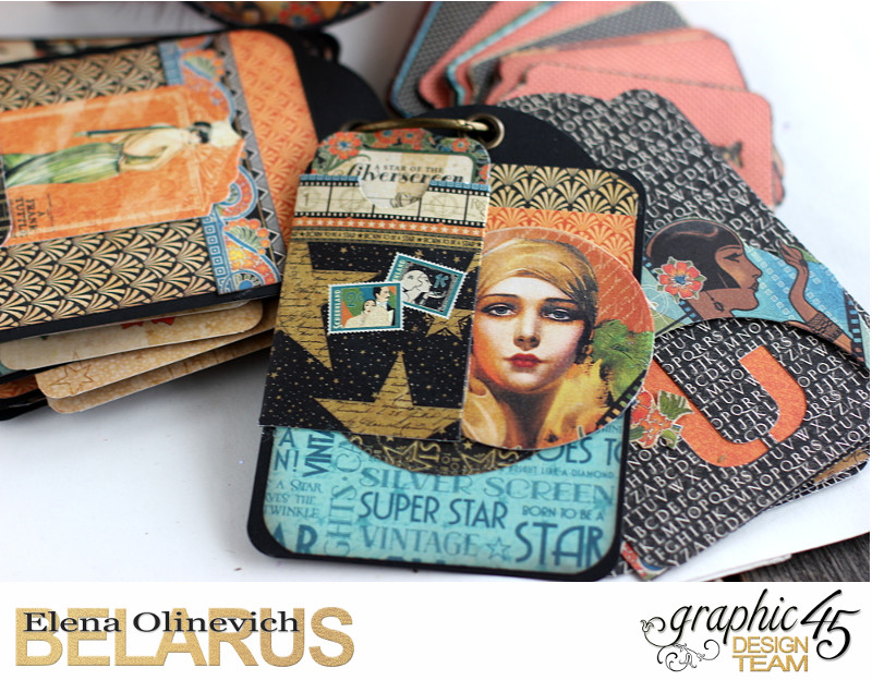 Tag Mini Album  Vintage Hollywood  by Elena Olinevich product by Graphic45  photo9