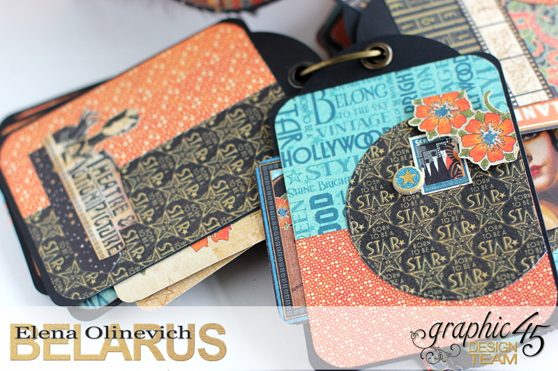 Tag Mini Album  Vintage Hollywood  by Elena Olinevich product by Graphic45  photo7