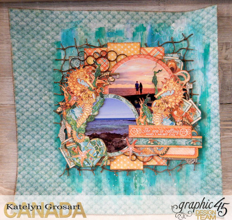 The Sea Is Calling and I Must Go  Voyage Beneath the Sea  Tutorial by Katelyn Grosart  Product by Katelyn Grosart  Photo 1